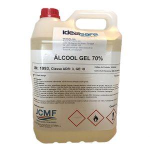 Álcool gel profissional p/ mãos com álcool >70% – 5L